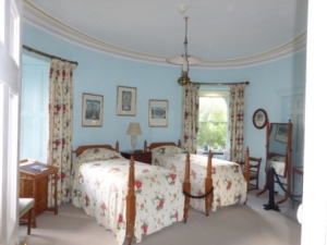 Guest Room in round tower of Glenveagh Castle